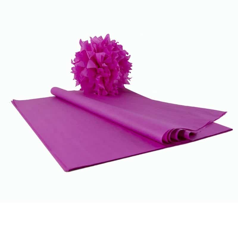 papier de soie fushia en feuilles qualit premium le papier de soie. Black Bedroom Furniture Sets. Home Design Ideas