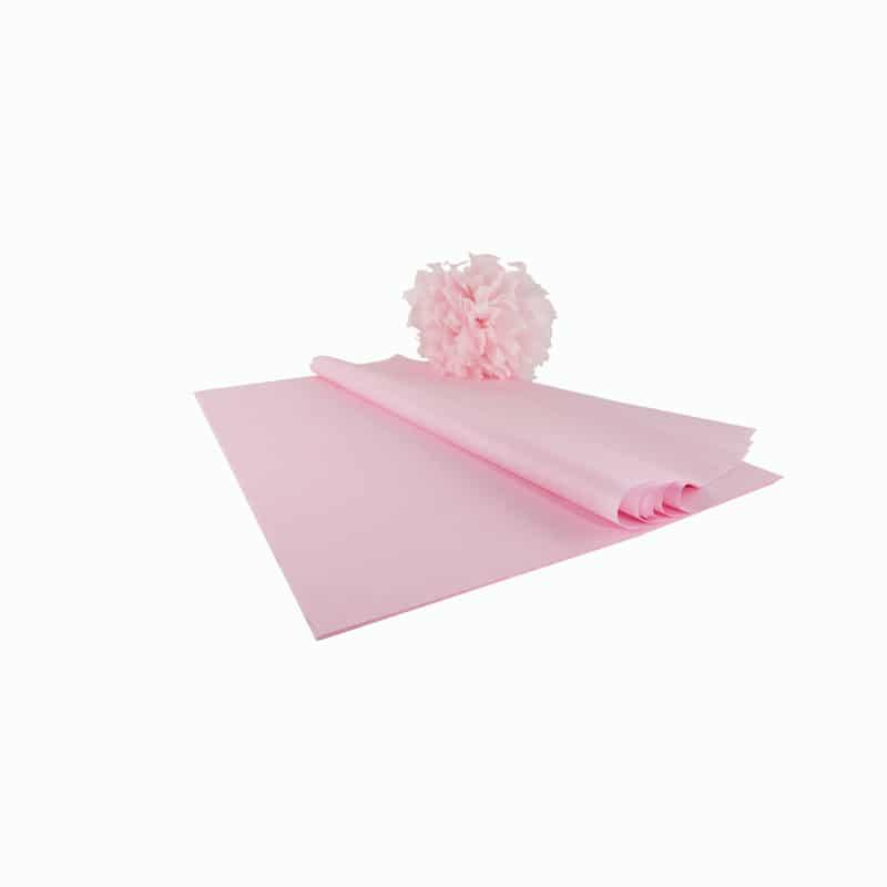 kit pompons en papier de soie qualit premium rose clair papier de soie. Black Bedroom Furniture Sets. Home Design Ideas
