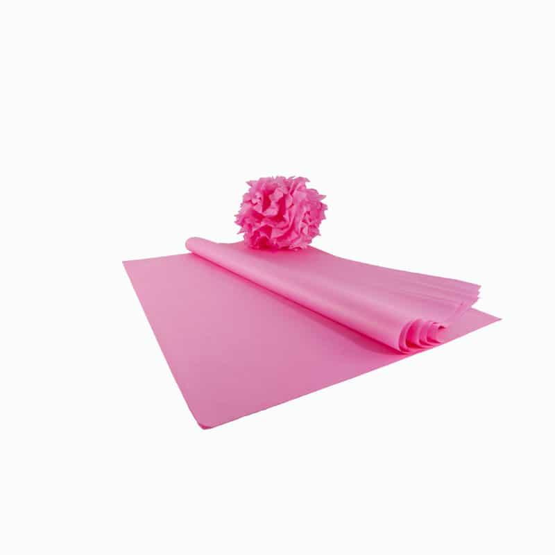 kit pompons en papier de soie qualit premium rose vif papier de soie. Black Bedroom Furniture Sets. Home Design Ideas
