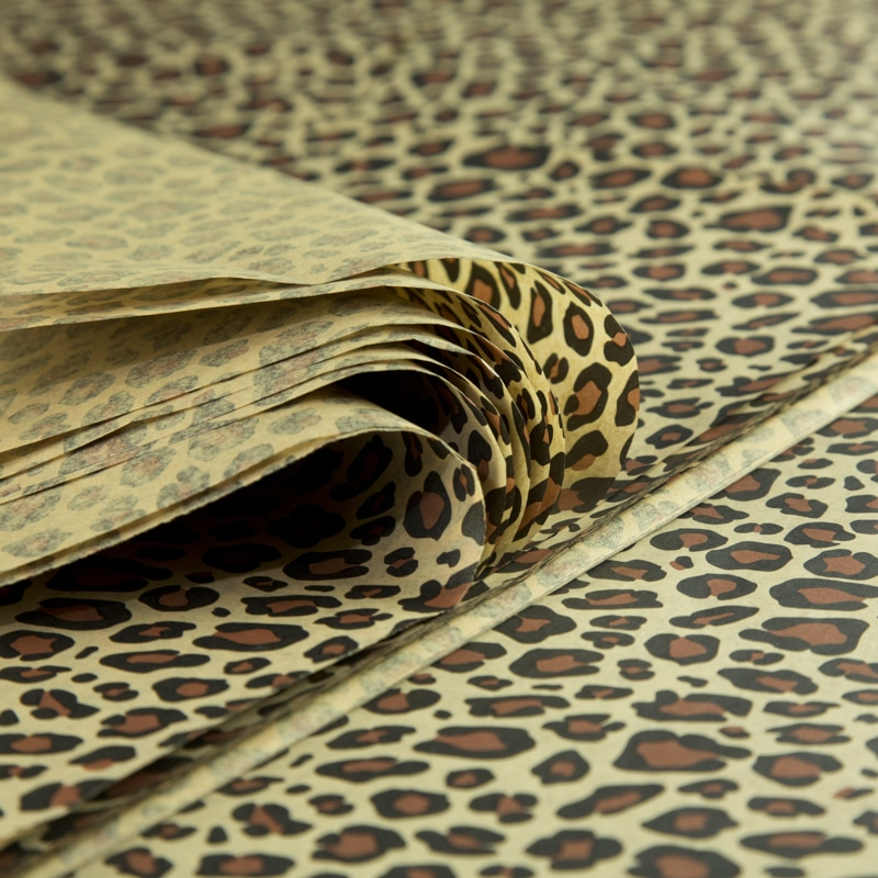 feuille papier de soie imprim all occasions leopard papier de soie. Black Bedroom Furniture Sets. Home Design Ideas