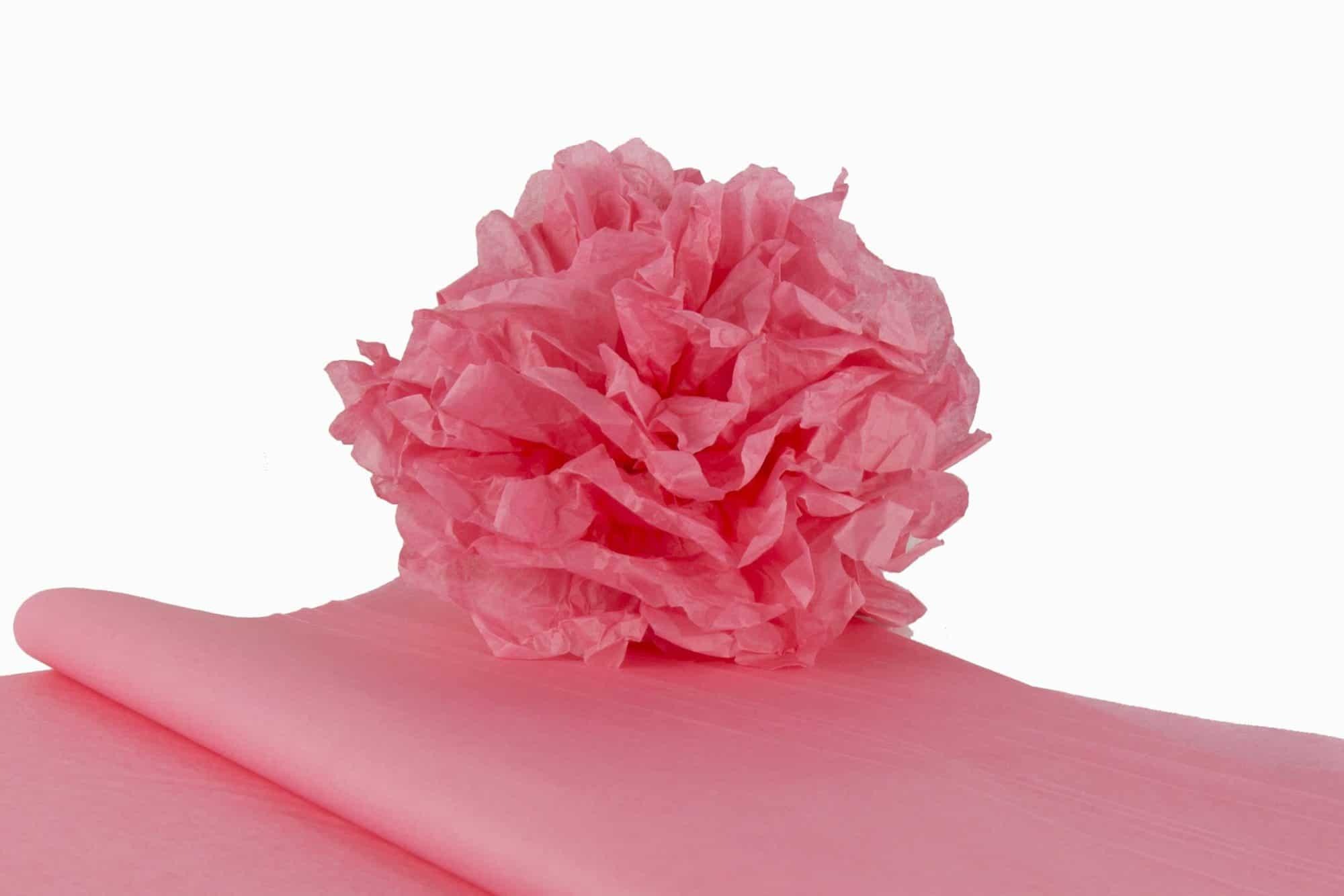 kit pompons en papier de soie qualit premium rose saumon papier de soie. Black Bedroom Furniture Sets. Home Design Ideas